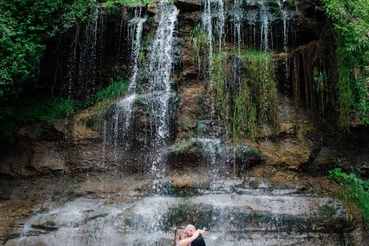 Cassandra and Braeden Rock Glen Engagement